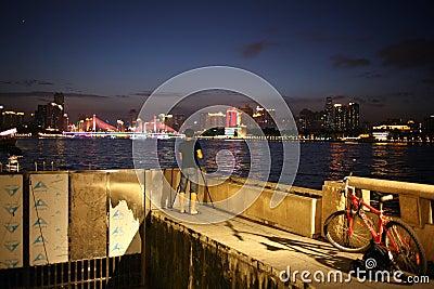 Sunset of riverside Editorial Stock Photo