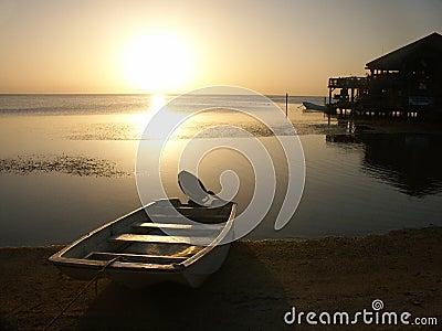 Sunset on Roatan Island