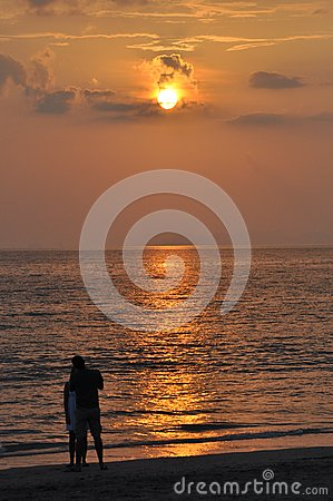 Sunset and romance in Thailand