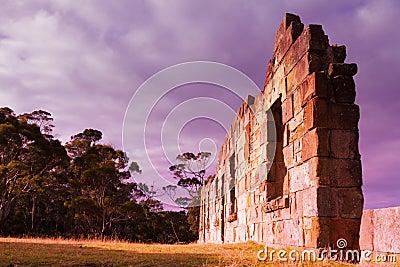 Sunset ruins