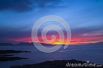 Sunset, Rum, Inner Hebrides, Scotland