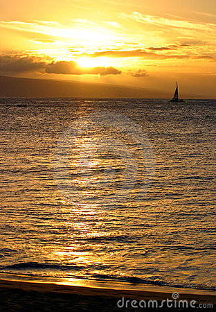 Sunset Sail Royalty Free Stock Photo - Image: 3993975