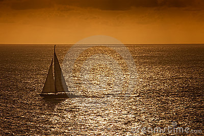 Sunset Sail on the Caribbean Sea
