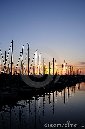 Free Sunset Sailboats Stock Images - 9857444