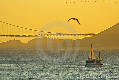 Sunset in San Francisco, CA
