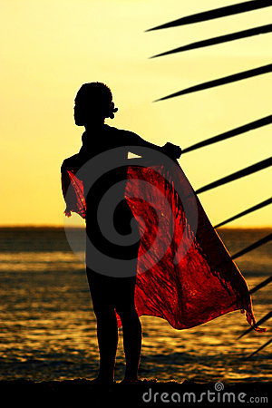 Sunset Sarong Girl