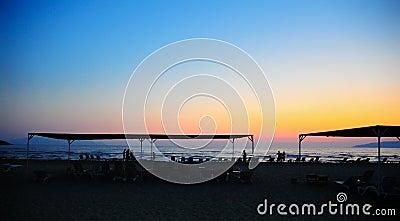 Sunset scene at beach