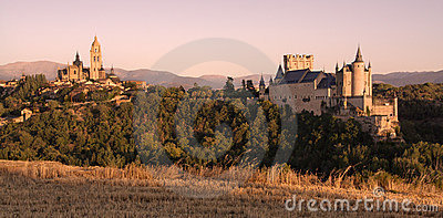 Sunset in Segovia
