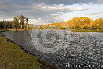 Sunset on the Selenge River