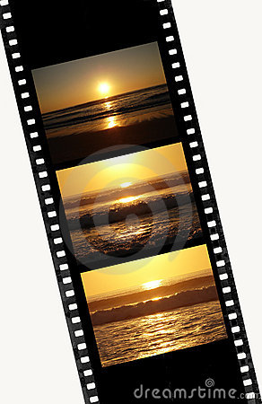 Free Sunset Sequence In Film Of 35mm Royalty Free Stock Photos - 3876318