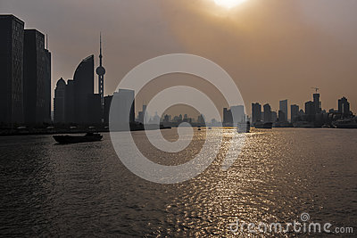 Sunset in Shanghai