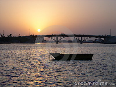 Sunset at Sharjah Corniche