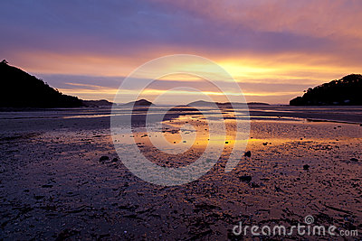 Sunset on Shelly beach