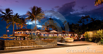 Sunset at Sheraton Resort in Fiji Editorial Photography