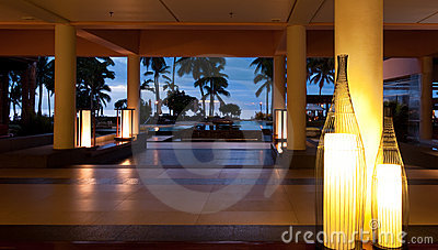 Sunset at Sheraton Resort in Fiji Editorial Stock Image