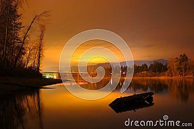 Sunset by Shuswap lake