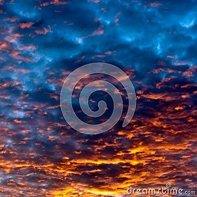 Sunset sky an clouds