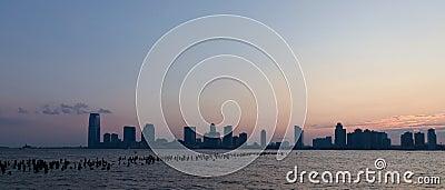 Sunset skyline panorama