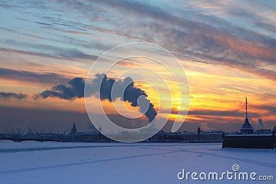 Sunset and smog