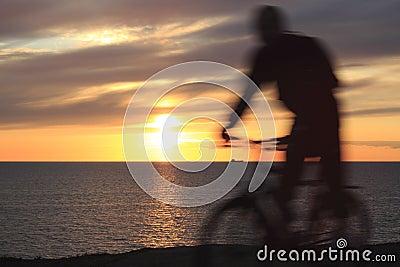 Sunset and sportsmen