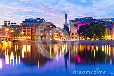 Sunset in Stockholm, Sweden