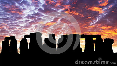 Sunset In The Stonehenge Royalty Free Stock Image - Image: 25982286