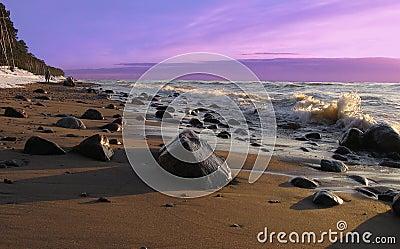 Sunset stones.