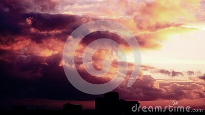 Sunset And Storm Clouds  Free Public Domain Cc0 Image