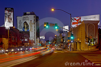 The Sunset Strip In The West Hollywood Area Editorial Stock Image