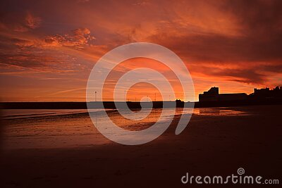 Sunset At Sunny Sands Free Public Domain Cc0 Image