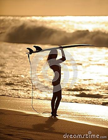 Sunset surfer girl 5