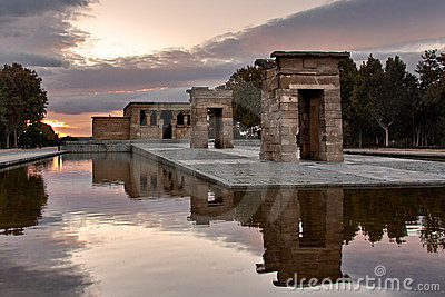 Sunset in the Temple of Debod
