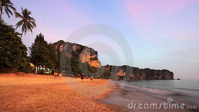 Sunset In Thailand Royalty Free Stock Photos - Image: 13876308