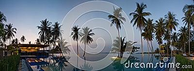 Sunset in Thailand resort