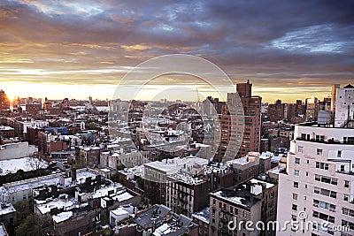 Winter Dusk at West Village Manhattan New-York
