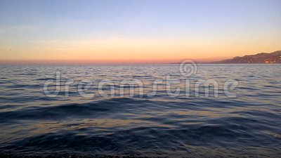 Sunset time for reflection stock video footage