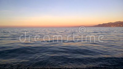 Sunset time for reflection stock footage