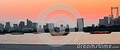 Sunset of Tokyo Bay