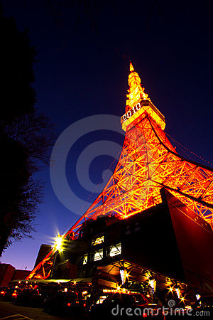 Sunset at Tokyo tower Editorial Stock Photo