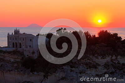 Sunset in Tropea