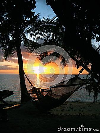 Sunset on a tropical beach