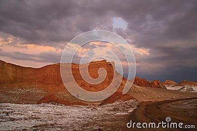 Sunset at Valle de la Luna
