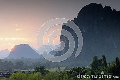 Sunset Vang Vieng Laos.