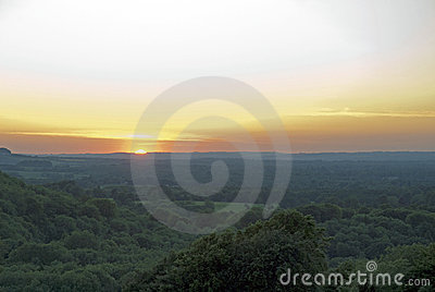 Sunset view from Beacon Hill, Highclere, Berkshire