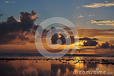 Sunset view on Rarotonga, Cook Islands
