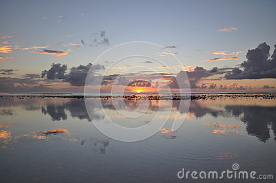 Sunset view on Rarotonga, Cook Islands