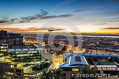 Sunset views over Edinburgh