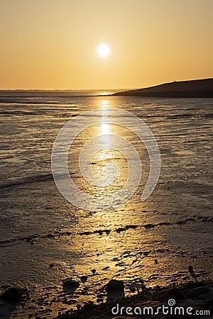 Sunset Wadden Sea