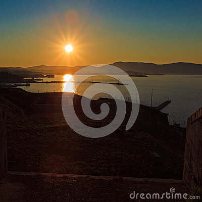 Sunset from walls of new fortress