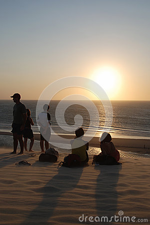 Sunset watchers Editorial Stock Photo